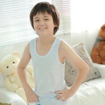 【Anny pepe】精梳美國棉男童背心內衣-淺藍