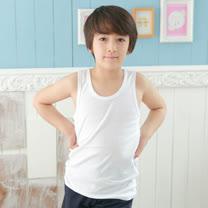 【Anny pepe】精梳美國棉男童背心內衣-白