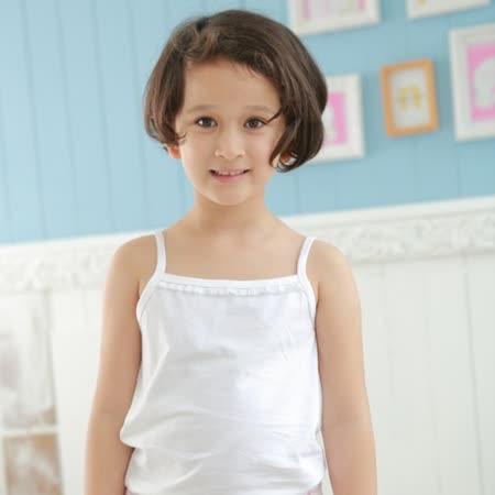 【Anny pepe】精梳美國棉女童吊帶背心內衣-白