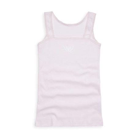 【Anny pepe】精梳美國棉女童方領背心內衣-淺粉