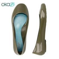 【OkaB】TAYLOR經典款亮面娃娃鞋/包鞋 墨綠(k0524TA-DGR)