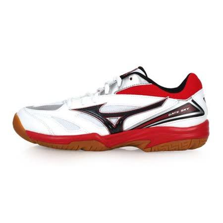 MIZUNO GATE SKY 羽球鞋-美津濃 白紅黑