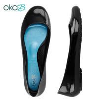 【OkaB】TAYLOR經典款亮面娃娃鞋/包鞋 黑色(k0524TA-BL)