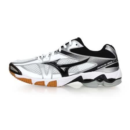 (男) MIZUNO WAVE BOLT 6 排球鞋-美津濃 白黑