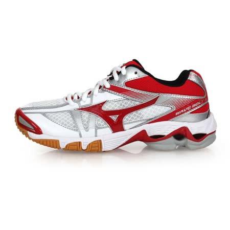 (女) MIZUNO WAVE BOLT 6 排球鞋-美津濃 白紅