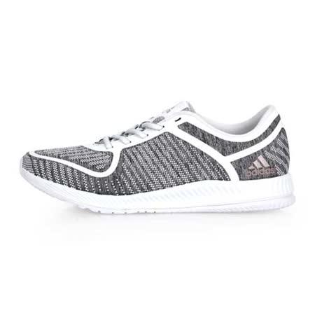 (女) ADIDAS ATHLETICS B W 室內多功能運動鞋-慢跑 訓練 健身 灰白