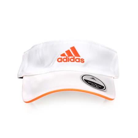ADIDAS 中空帽-空心帽 帽子 遮陽帽 防曬 白螢光橘 F