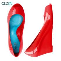 【OkaB】EMERY基本款魚口楔型高跟鞋 紅色(k1020EM-RE)