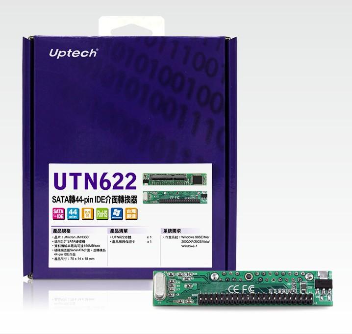 登昌恆 Uptech UTN622 SATA轉44~pin IDE介面轉換器
