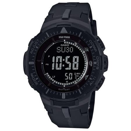 CASIO PRO TREK 馬雅叢林太陽能登山錶-PRG-300-1BDR