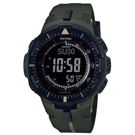 CASIO PRO TREK 馬雅叢林太陽能登山錶-PRG-300-3DR