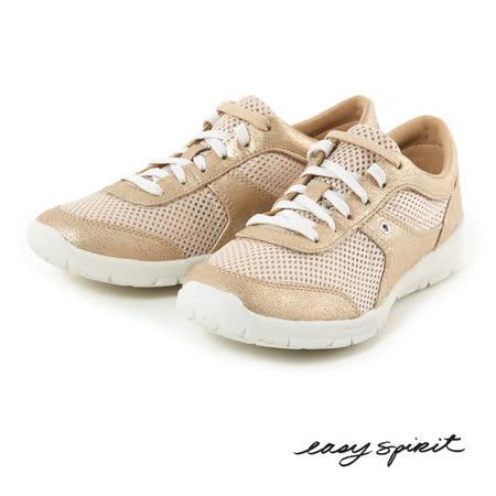 Easy Spirit--超輕量舒適亮眼運動休閒鞋--淺金色