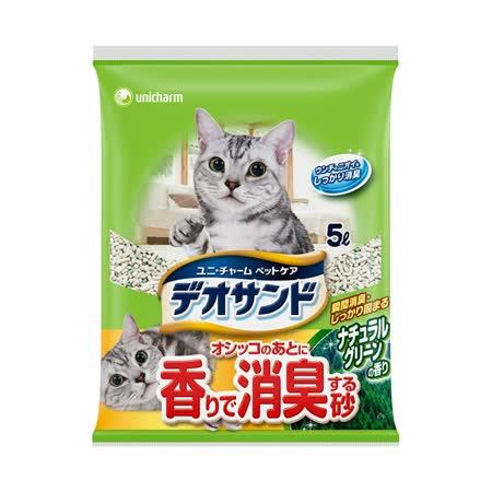 日本Unicharm消臭大師 尿尿後消臭貓砂-森林香 (5L x 4包)