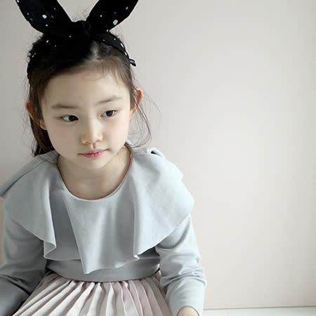 【HELLA 媽咪寶貝】韓國 Mini Dressing時尚可愛兔子耳朵造型髮帶_黑白點點 (MDA005)