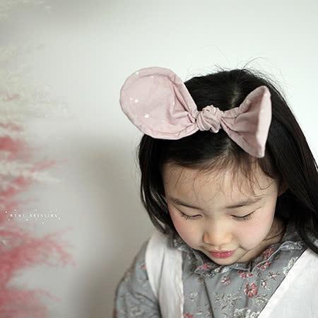 【HELLA 媽咪寶貝】韓國 Mini Dressing時尚可愛兔子耳朵造型髮帶_茶色點點 (MDA006)