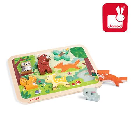 法國Janod創意兒童智玩-幼兒故事拼-森林記趣