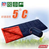 【美國 Coleman】C5 表演者II睡袋5度C.信封型睡袋.輕量化纖睡袋/可機洗.可併接.可當棉被.睡墊/附收納袋/CM-27262 海軍藍