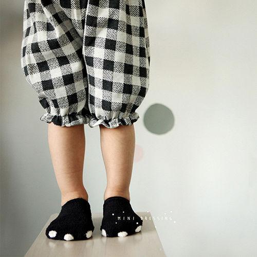 ~HELLA 媽咪寶貝~韓國 Mini Dressing 嬰幼兒小童短襪_黑色熊掌 ^(M