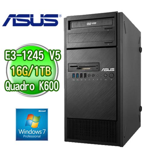 ASUS 華碩 ESC500 G4 四核繪圖工作站  ( E3-1245v5 16G 1TB K600繪圖卡 WIN7專業版)