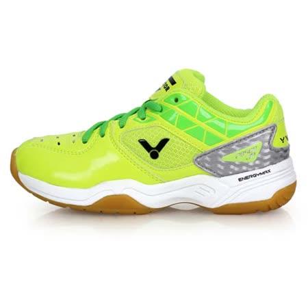 (童) VICTOR 男女兒羽球鞋-勝利 螢光黃綠