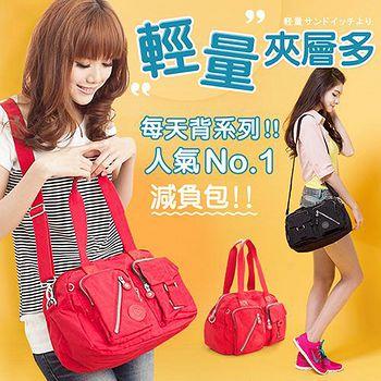 CHENSON OL每天背系列 輕/多口袋尼龍斜背包 經典款 共2色(CG70177)
