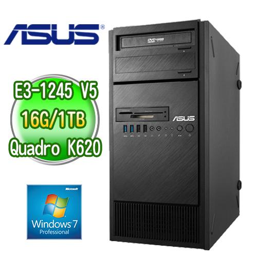ASUS 華碩 ESC500 G4 四核繪圖工作站  ( E3-1245v5 16G 1TB K620 2GB繪圖卡 WIN7專業版)