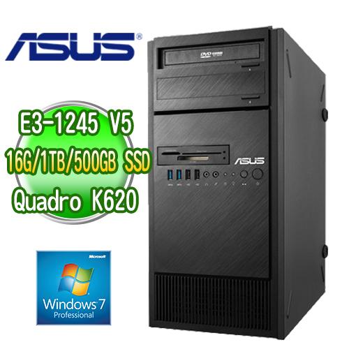 ASUS 華碩 ESC500 G4 四核繪圖工作站 ( E3-1245v5 16G M.2 500GB SSD+1TB K620繪圖卡 WIN7專業版)