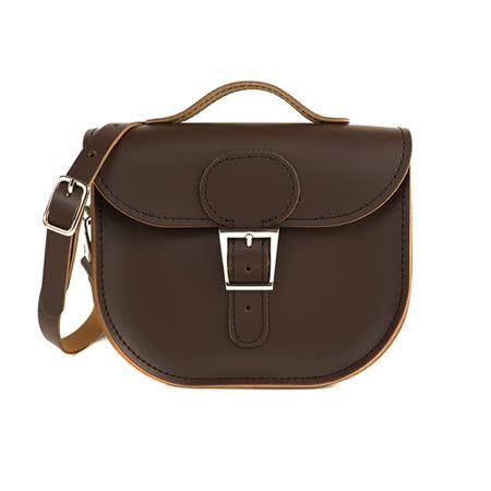 【Brit-Stitch】英國手工製作 牛皮牛奶包 外出簡約休閒輕巧包包 手提包 肩背 側背包 精湛工藝 新款磁釦設計方便開啟(可可棕)