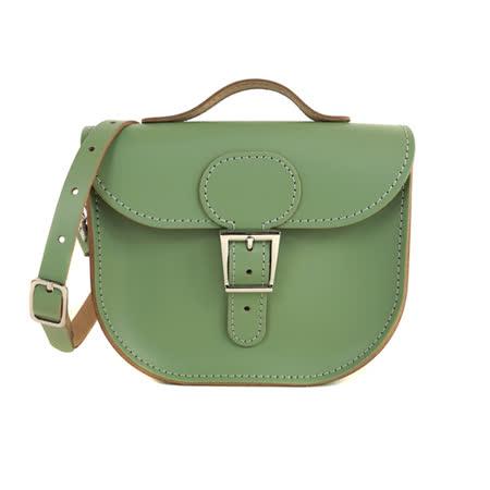 【Brit-Stitch】英國手工製作 牛皮牛奶包 外出簡約休閒輕巧包包 手提包 肩背 側背包 精湛工藝 新款磁釦設計方便開啟(橄欖綠)