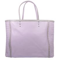 BOTTEGA VENETA 經典手工編織小羊皮購物托特包.粉紫