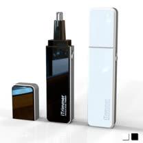 PUSH! 居家用品專利設計隨身碟型鼻毛修剪器電動鼻毛刀I68黑色