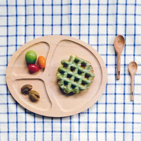 【Homely Zakka】木趣食光日系木質橢圓分隔餐盤(橢圓)