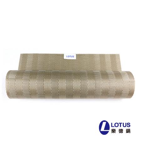 【LOTUS樂德】時尚系列-淺棕色橫紋餐桌墊(2入)