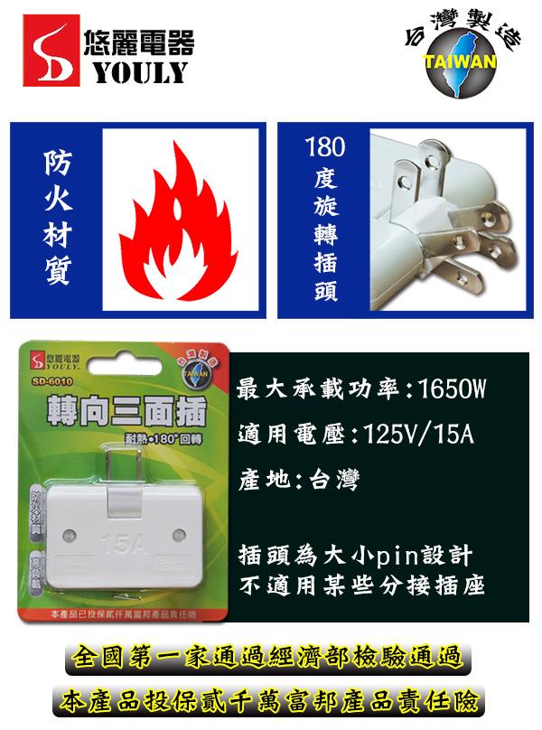 悠麗轉向三面插 SD~6010