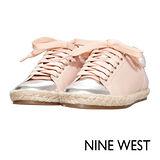 NINE WEST--活力草編休閒平底鞋--甜美粉