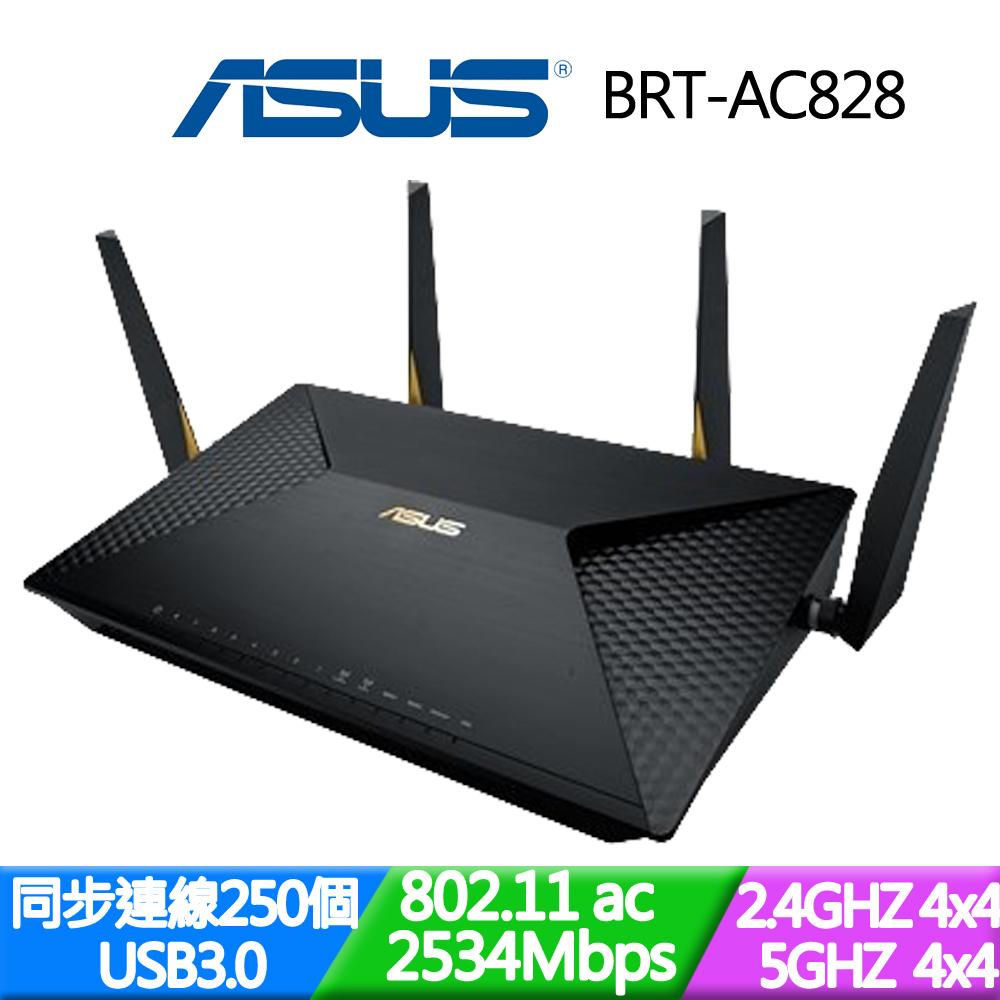 ASUS 華碩 BRT-AC828 商用網路 AC2600 雙 WAN VPN Wi-Fi 分享器