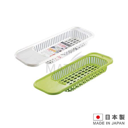 日本進口多功能廚房水槽瀝水架(白/綠 顏色隨機) SAN-D5360