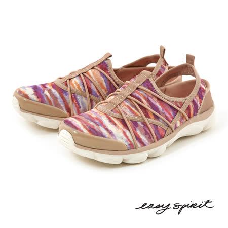 Easy Spirit--超輕量機能後拉帶休閒鞋--渲染粉色