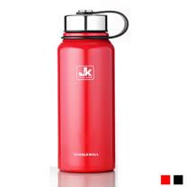 PUSH! 戶外休閒用品不銹鋼雙層真空冷泡茶保溫水壺保溫瓶1100ml保溫杯E83-1紅色