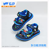 【G.P 快樂童鞋-磁扣兩用涼鞋】G7603B-20 藍色 ( SIZE:24-30 共四色)