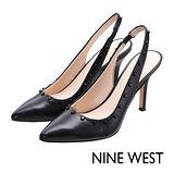 NINE WEST--尖頭後抽帶高跟鞋--經典黑