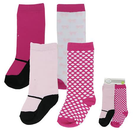 美國 luvable friends  嬰兒襪/寶寶襪/初生襪/及膝襪 4入組_粉色假鞋襪(LF24122)
