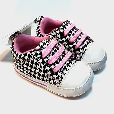 美國 luvable friends  嬰幼兒防滑學步鞋_ 黑白格子(LF11320)