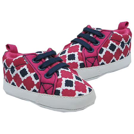美國 luvable friends  嬰幼兒防滑學步鞋_桃紅格紋 (LF90196)
