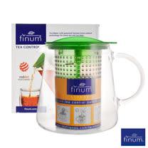 德國FINUM 玻璃耐熱泡茶控制壺800ML-綠