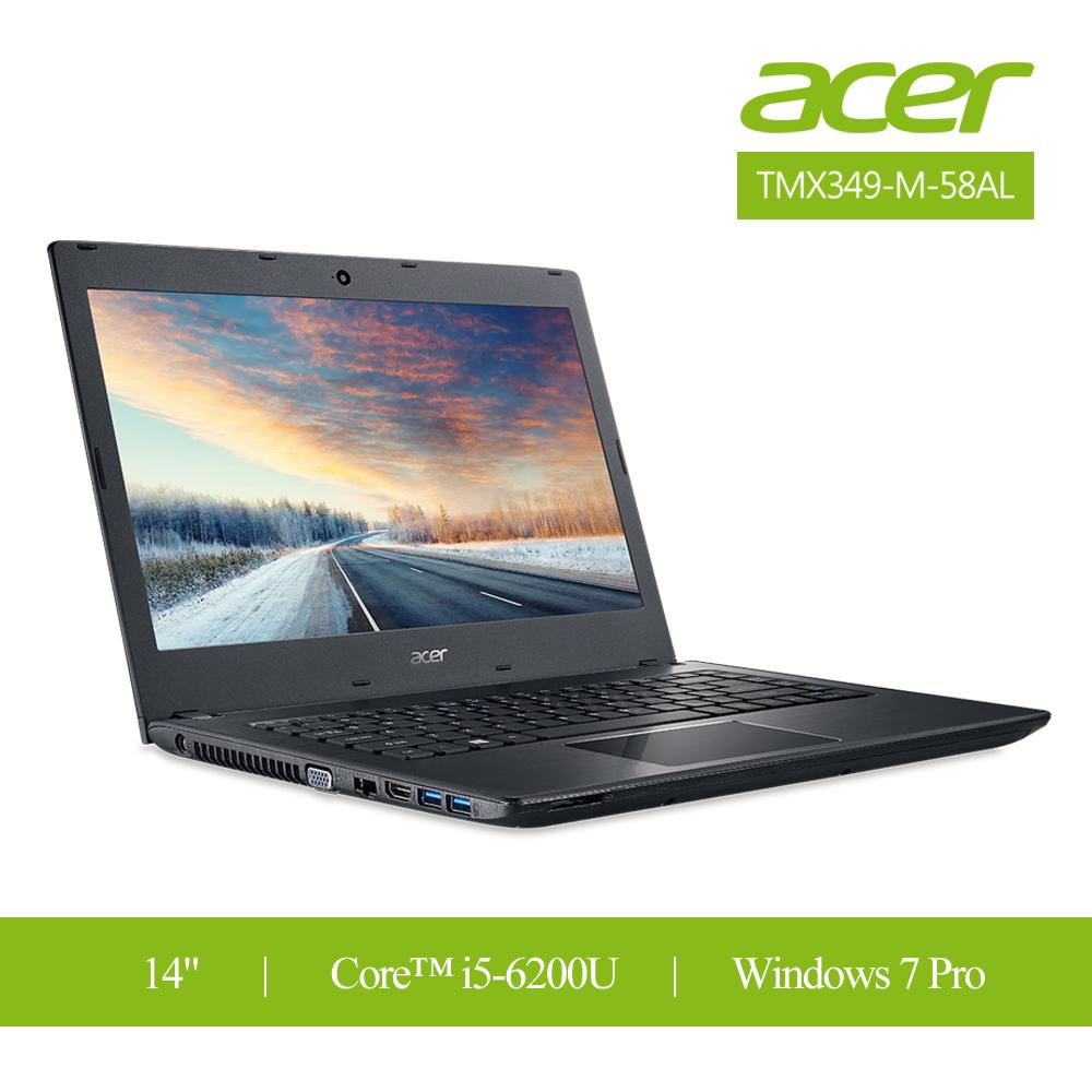 Acer TravelMateX3 14吋/i5/win7 pro/1.56公斤 輕薄商用筆電(TMX349-M-58AL)