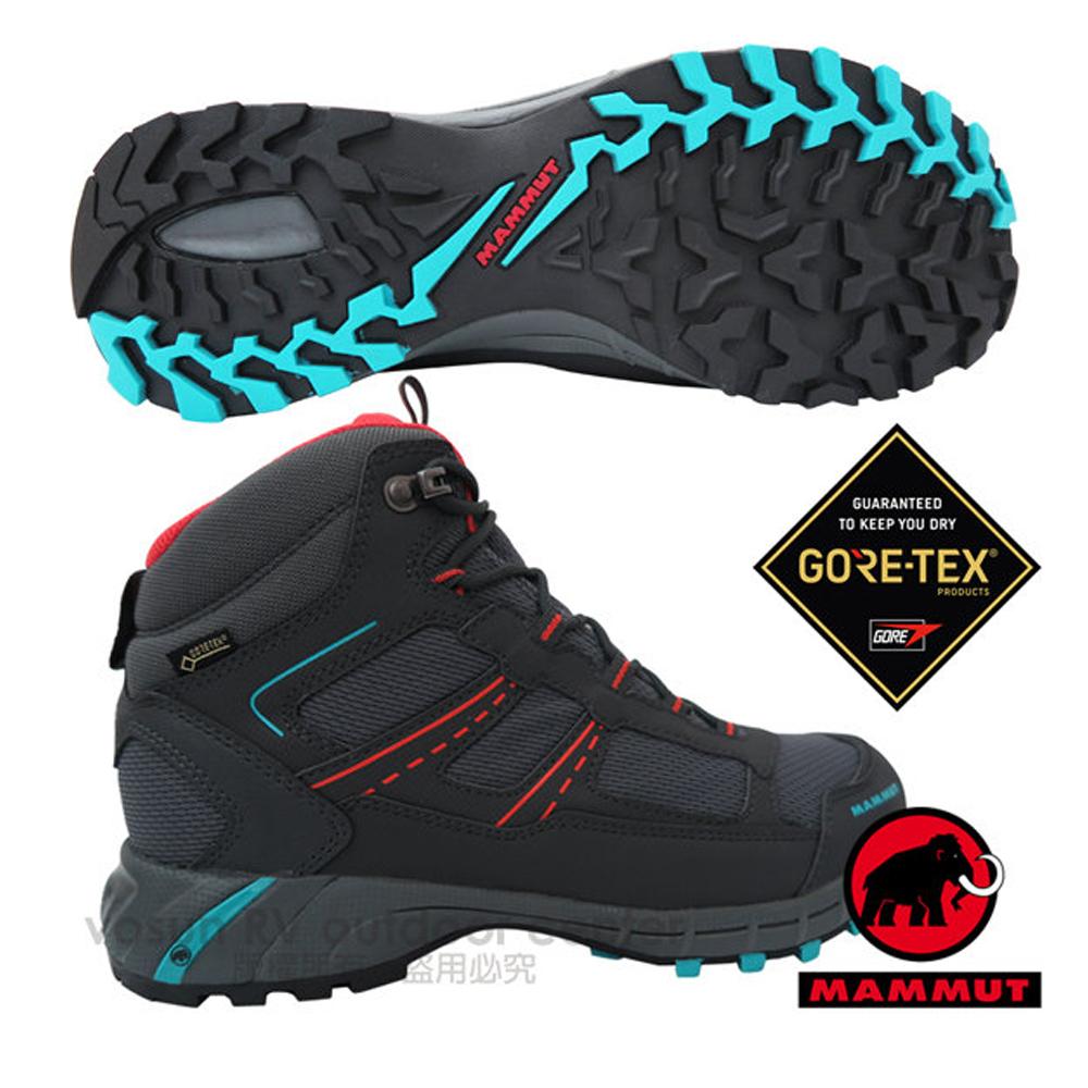【瑞士 MAMMUT 長毛象】女Fernow Mid GTX 中筒 超輕量多功能鞋 登山健行/GORE-TEX / 05640-00028 石墨