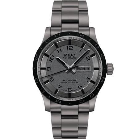 MIDO Multifort 先鋒系列【鈦】時尚機械腕錶-灰/42mm M0184304406200