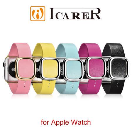 ICARER 小羊皮系列 Apple Watch 手工真皮錶帶