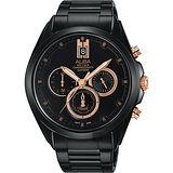 ALBA 台灣獨賣情人節限量計時腕錶-黑/43mm VD53-X264K(AT3B11X1)